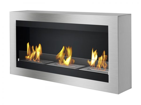 Magnum Ethanol Fireplace - Side View