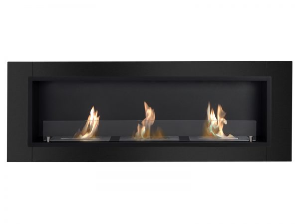 Ardella Black Ventless Ethanol Fireplace Front View