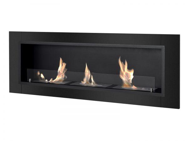 Ardella Black Ventless Ethanol Fireplace Side View