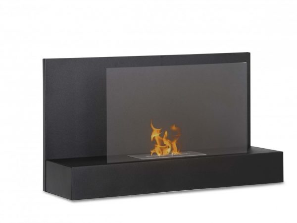 Ater BK Wall Mounted Ethanol Fireplace - Side View