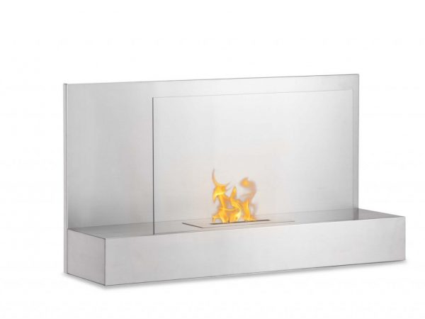 Ater SS Wall Mounted Ethanol Fireplace - Side View