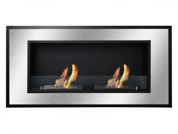 Bellezza Recessed Ventless Ethanol Fireplace Front View