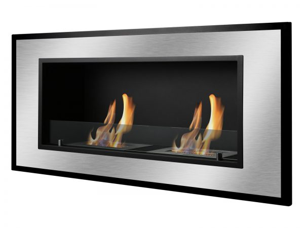 Bellezza Recessed Ventless Ethanol Fireplace Side View
