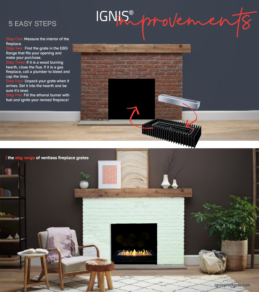 IGNIS® Ventless Fireplace Conversion Kits