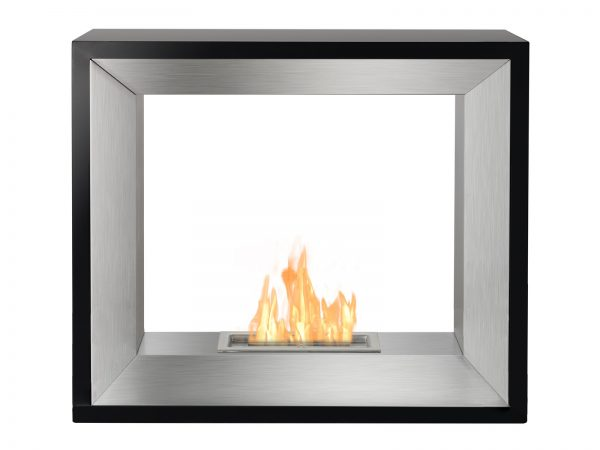 Tempo Freestanding Ethanol Fireplace - Front View