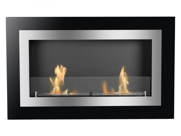 Villa Recessed Ethanol Fireplace with Flame Front View