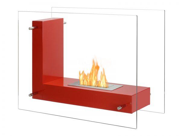 Vitrum L Freestanding Ethanol Fireplace