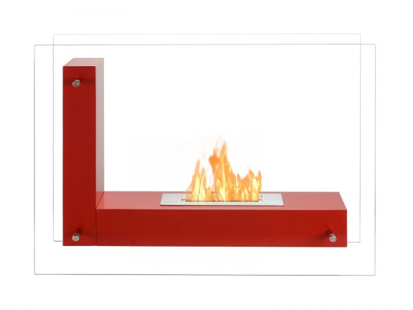 Vitrum L Freestanding Ventless Ethanol Fireplace