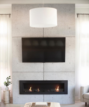 Ethanol Wall Fireplace - Accalia Recessed Fireplace by IGNIS®