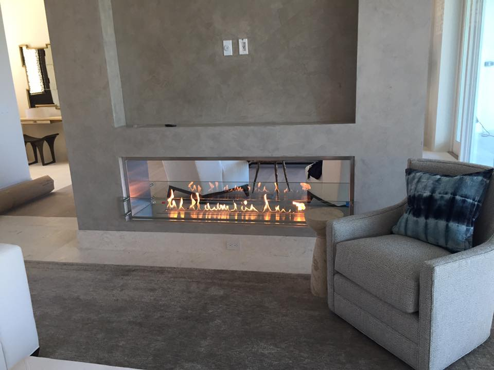 IGNIS Bio Ethanol Fireplace Insert Configuration - Double-Sided - See-Through